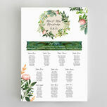 Flora Wreath Wedding Seating Plan additional 2