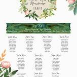Flora Wreath Wedding Seating Plan additional 2