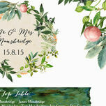 Flora Wreath Wedding Seating Plan additional 4