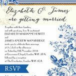 French Toile Wedding Invitation additional 2