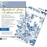 French Toile Wedding Invitation additional 3