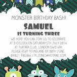 Monster Mayhem Party Invitation additional 3