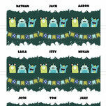 Monster Mayhem Name Cards - Set of 9 additional 2