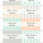 Pastel Bohemian Escort Cards - Set of 8 additional 2