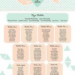 Pastel Bohemian Wedding Seating Plan additional 3