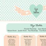 Pastel Bohemian Wedding Seating Plan additional 4