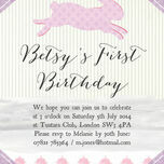 Pastel Bunny Party Invitation additional 3