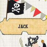Pirate Party Name Cards - Set of 9 additional 1