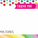 Rainbow Fiesta Thank You Cards additional 2