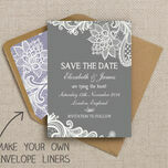 Romantic Lace Pattern Sheet/Envelope Liner additional 5