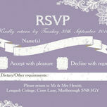 Romantic Lace RSVP additional 5
