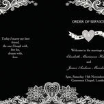 Romantic Lace Order of Service Cover additional 25