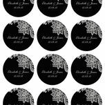 Romantic Lace Stickers - Sheet of 12 additional 12