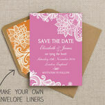 Romantic Lace Pattern Sheet/Envelope Liner additional 20