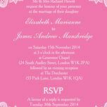 Romantic Lace Wedding Invitation additional 13