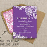 Romantic Lace Pattern Sheet/Envelope Liner additional 24