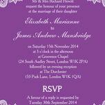 Romantic Lace Wedding Invitation additional 19