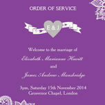 Romantic Lace Order of Service Cover additional 16