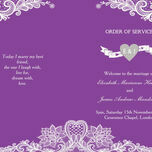 Romantic Lace Order of Service Cover additional 17