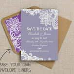 Romantic Lace Pattern Sheet/Envelope Liner additional 8