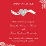 Romantic Lace Order of Service Cover additional 14