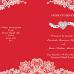 Romantic Lace Order of Service Cover additional 15