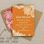 Romantic Lace Pattern Sheet/Envelope Liner additional 16