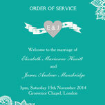 Romantic Lace Order of Service Cover additional 18