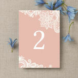 Romantic Lace Table Number additional 2