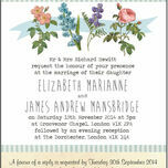 Rustic Botanical Wedding Invitation additional 2