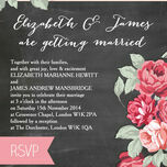 Rustic Floral Wedding Invitation additional 5