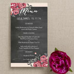 Rustic Floral Menu additional 5