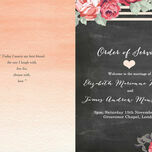 Rustic Floral Order of Service Cover additional 7