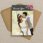 Rustic Floral Thank You Card additional 2
