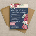 Rustic Floral Wedding Invitation additional 3