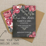 Rustic Floral Pattern Sheet/Envelope Liner additional 2