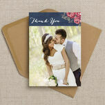 Rustic Floral Thank You Card additional 6