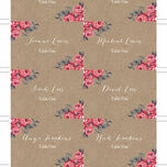 Rustic Floral Escort Cards - Set of 8 additional 5