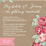 Rustic Floral Wedding Invitation additional 6