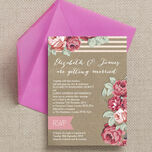 Rustic Floral Wedding Invitation additional 2