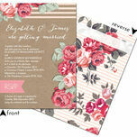 Rustic Floral Wedding Invitation additional 10