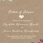 Rustic Floral Order of Service Cover additional 2