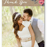 Rustic Floral Thank You Card additional 3