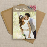 Rustic Floral Thank You Card additional 5