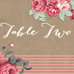 Rustic Floral Table Name additional 2