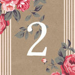 Rustic Floral Table Number additional 3