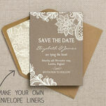 Rustic Lace Pattern Sheet/Envelope Liner additional 2
