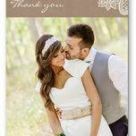 Rustic Lace Thank You Card additional 1
