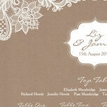 Rustic Lace Wedding Seating Plan additional 4