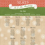 Rustic Winter Wedding Seating Plan additional 3